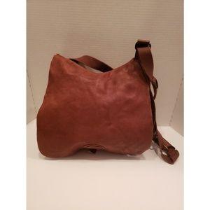 Lucky Brand brown leather saddle bag